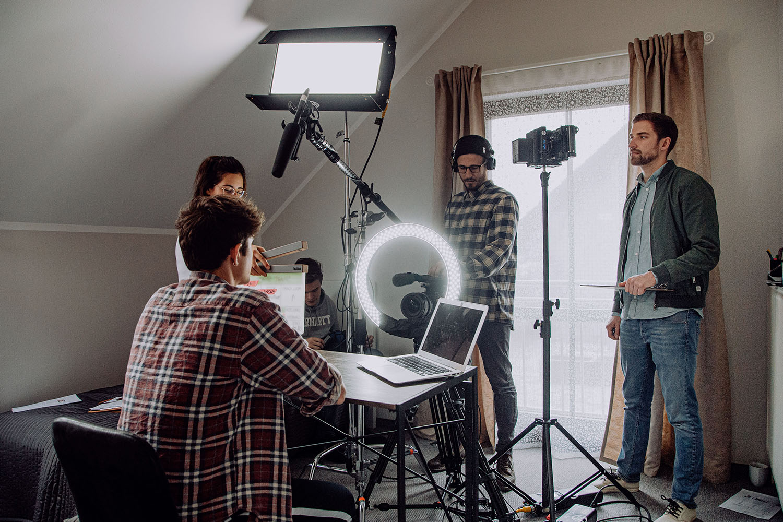 Filmproduktion Imagefilm Recruitingfilm Dreharbeiten Finanzamt Ausbildung