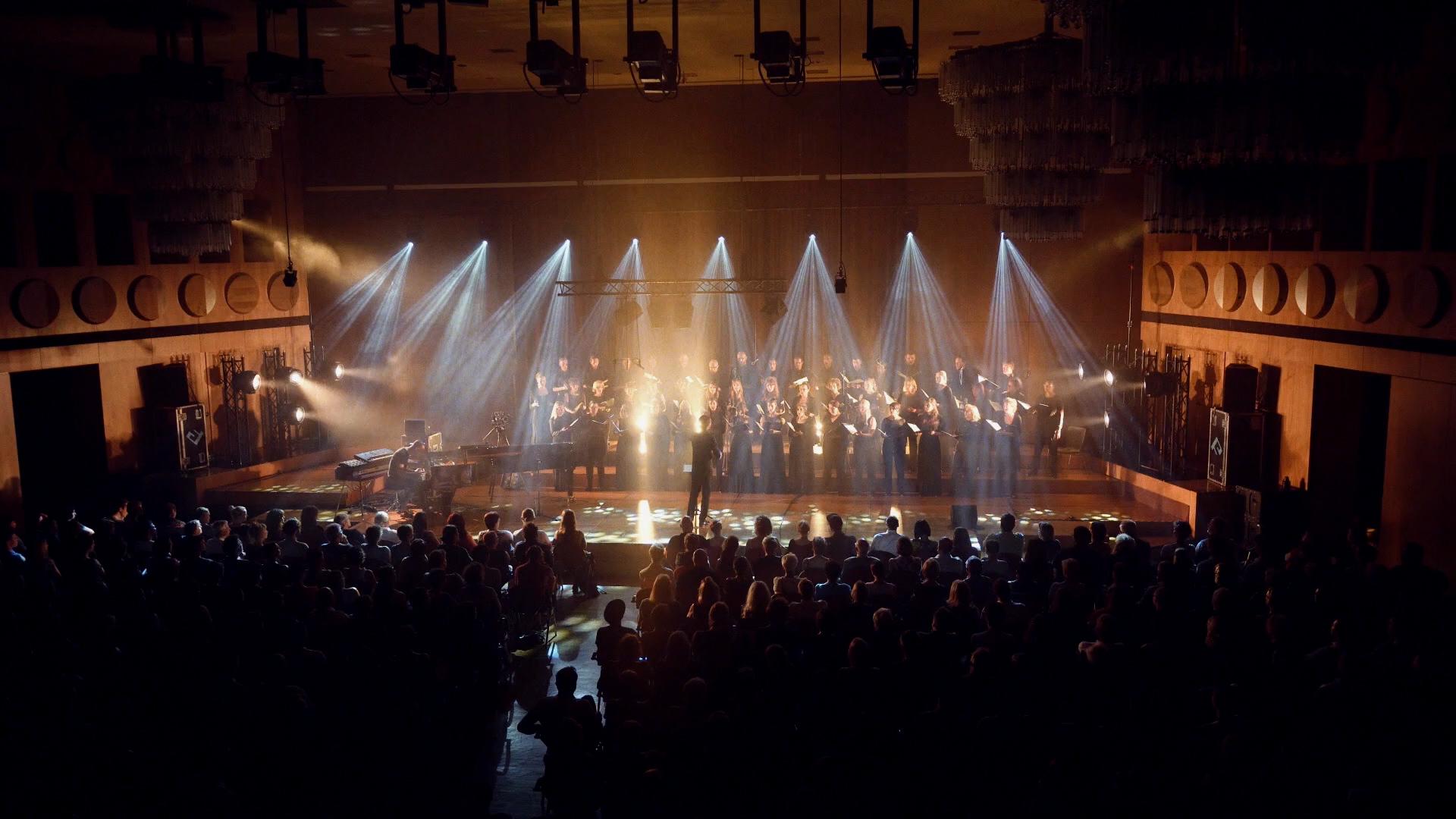 Filmproduktion Imagefilm Gewandhauschor Chor auf Bühne
