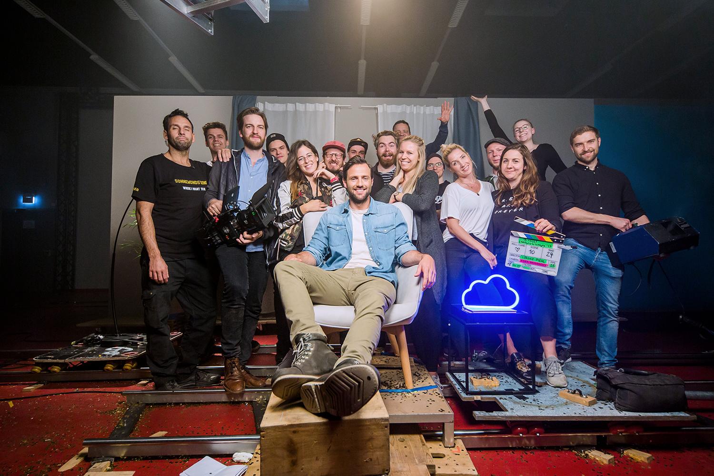 Filmproduktion Imagefilm Produktfilm Dreharbeiten Drehteam Energielösungen QCells