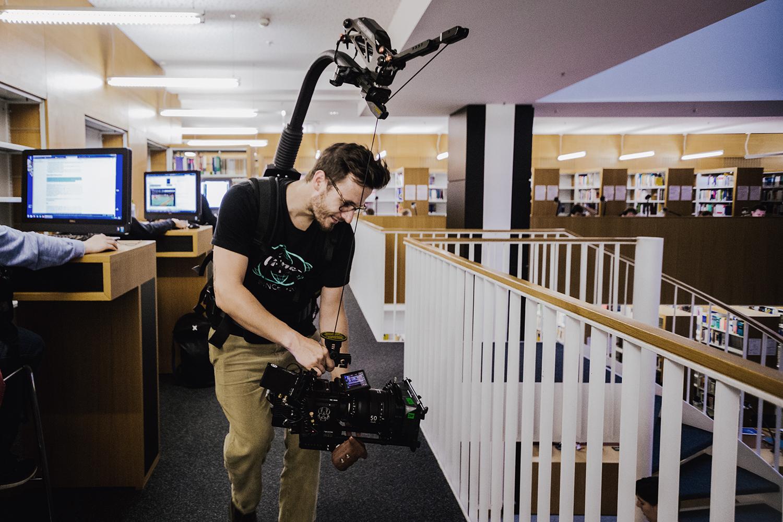 Filmproduktion Imagefim Universität Leipzig Dreharbeiten